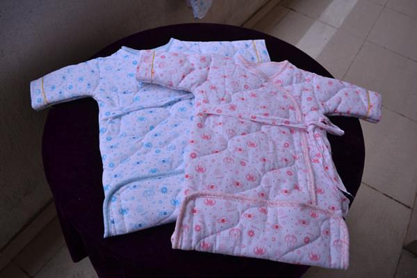 夹棉睡袋(蓝粉)