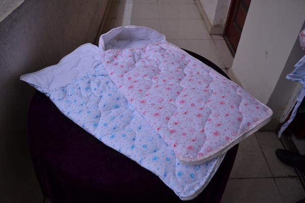 拉链睡袋(蓝粉)